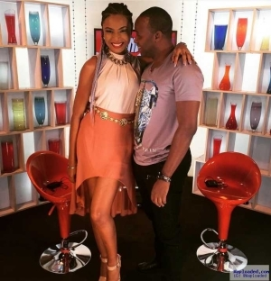 Cute Photo Of Hip Tv Presenter, Nancy And Actor Femi Adebayo